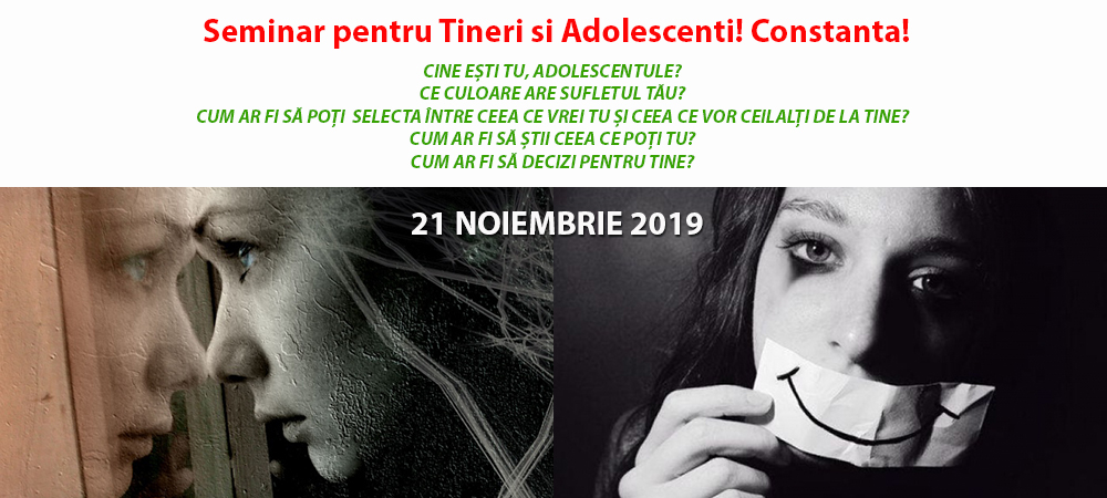 Seminar pentru Tineri si Adolescenti! Constanta – 21 Noiembrie!