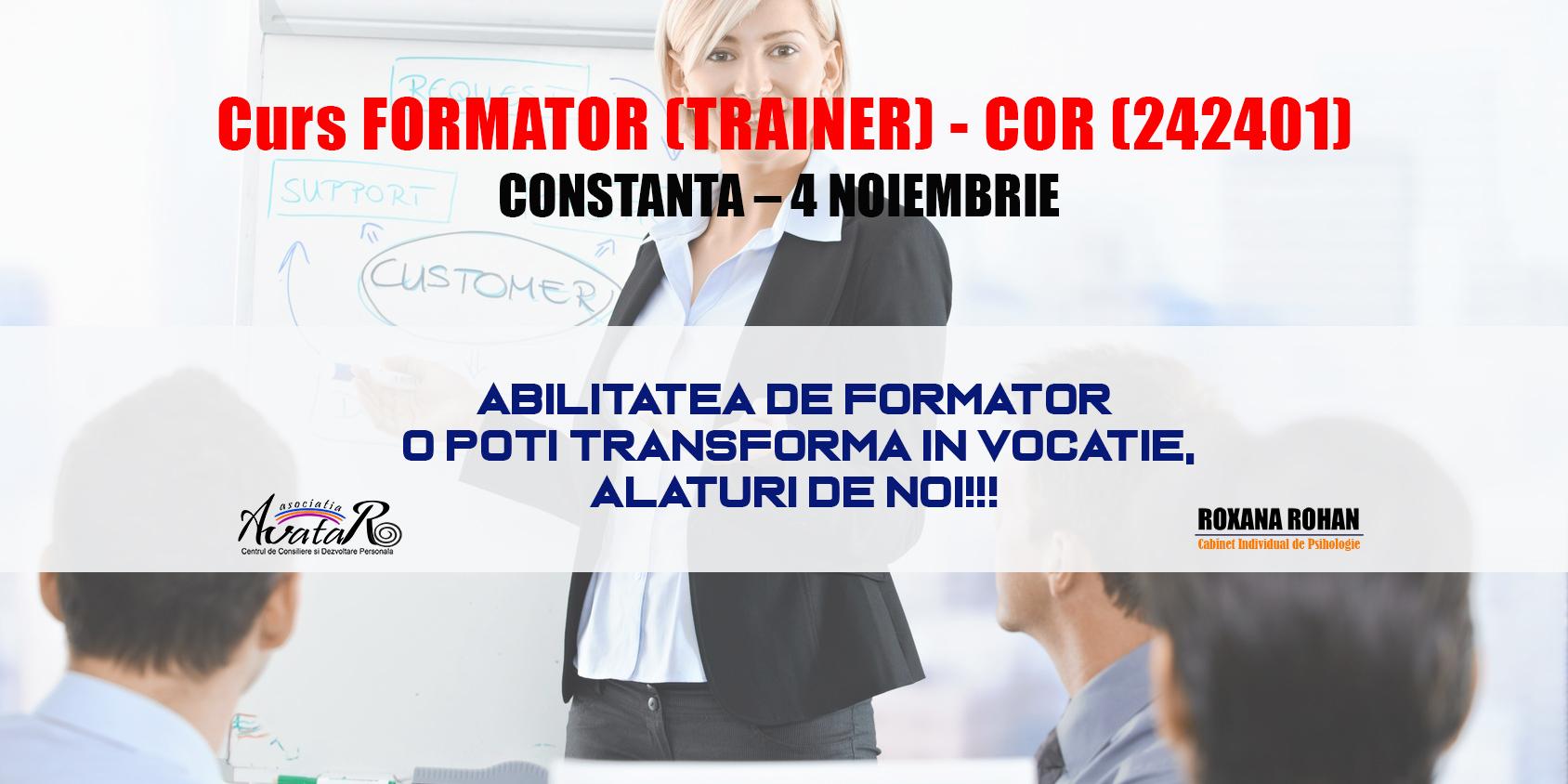 Curs Formator Trainer – COR 242401 Constanta – 4 Noiembrie!